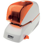 Rapid Supreme Electric Stapler R5080e Silver Orange 80 sheets