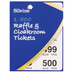 Silvine Raffle and Cloakroom Tickets book 1 500 pack of 12