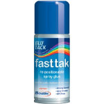 Bostik Blu Tack Fast Tak repositionable adhesive spray 150ml can