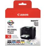 Canon PGI 2500XLBK C M Y Original Ink Cartridge Black 3 Colours Multipack