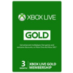 Xbox Live 3 month gold card