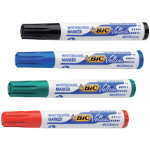 BIC Dry Wipe Markers Chisel Tip Chisel 37 55 mm Assorted