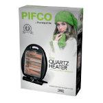 Pifco 800W folding quartz heater black