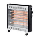 Pifco 800W 1600W quartz heater black