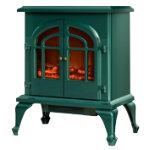 Warmlite 2000W log effect stove fire fire green