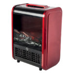 Warmlite 2000W log effect stove fire red