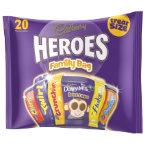 Cadbury miniature heroes family bag 278g