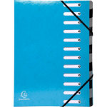Exacompta Multipart File Iderama A4 Turquoise Pressboard