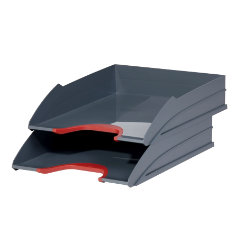 DURABLE Letter Tray VARICOLOR TRAY SET DUO Polysterol Red 5.5 x 25.5 x 33 cm