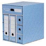Fellowes Storage Unit A4 Blue White Polkadot Cardboard 289 x 383 x 339 cm