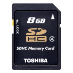 Toshiba 8GB SDHC card class 4