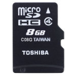 Toshiba 8GB MicroSDHC Card Class 4