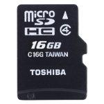 Toshiba 16GB MicroSDHC Card Class 4