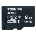 Toshiba 8GB MicroSDHC Card Class 10