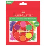 Faber Castell jumbo watercolour pencils assorted fluorescent colours pack of 6