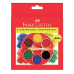 Faber Castell jumbo watercolour pencils assorted colours pack of 6