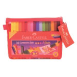 Faber Castell Connector Pens with Red Mesh Pencil Case Assorted