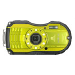 Ricoh Optio WG 4 camera kit with GPS yellow includes 8GB SD card floating strap and protective case