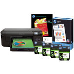 HP Officejet Pro 8100 eprinter plus full set of ink cartridges pack of HP photo paper and ream of HP Office paper