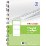 Office Depot A4 twin wire notebook feint ruled