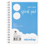 Niceday spiral bound A6 notepad pack of 5