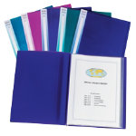 Snopake Electra 24 pocket A3 display book pack 5 assorted