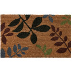 Leaf design coir indoor outdoor mat
