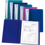Snopake Electra 10 pocket A4 display book pack 10 assorted
