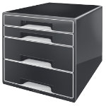 Leitz WOW 4 Drawer Cube Desk Cabinet Black
