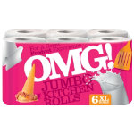 OMG Luxury Kitchen Rolls 3 ply 80 sheets pack of 6