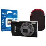 Canon IXUS 160 Digital Camera kit with 8GB SDHC class 10 memory card case black