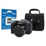Canon Powershot SX530 HS Digital Camera kit with 16GB SDHC class 10 memory card case