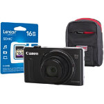 Canon Powershot SX610 HS Digital Camera kit with 16GB SDHC class 10 memory card case black