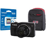 Canon Powershot SX710 HS Digital Camera kit with 16GB SDHC class 10 memory card case black