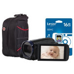 Canon Lergia HF R606 Digital Camcorder with 8GB FLASH SD SDHC SDXC black