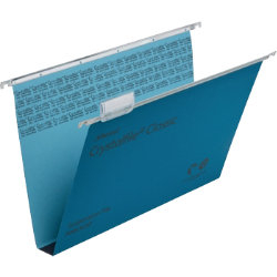 Rexel Crystalfile Classic Suspension Files Manilla 30mm Capacity Foolscap Blue Box 50