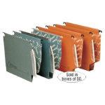 Rexel Crystalfile Classic Lateral Suspension Files Manilla V Base 15mm Capacity W330xH280mm Orange Box 50