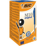 BIC Retractable Ballpoint Pen M10 05 mm Blue Pack 50