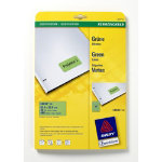 Avery Labels Square Green 480 Labels per pack