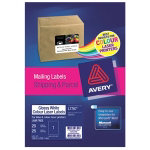 Avery Labels Rectangle White 40 Labels per pack