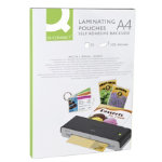 Q CONNECT Laminating Pouch Sticky Back Clear 02 mm