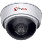 Proper Imitation Dome Camera P SIDCW 1 with LED flashing lights white