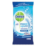 Dettol power and pure advance bathroom wipes pack 80