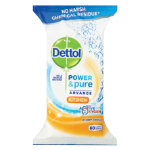 Dettol power and pure advance kitchen wipes pack 80