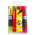 Stabilo Luminator Highlighter Double Capacity Assorted Pack of 4