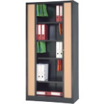 RS Pro Tambour Cupboard Black Beech 1980 x 1000 x 450 mm