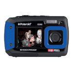 Polaroid IE090 dual screen 18MP underwater camera blue