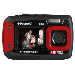 Polaroid IE090 dual screen 18MP underwater camera red