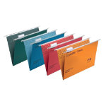Rexel Crystalfile Classic Suspension Files Manilla 15mm Capacity Foolscap Assorted Box 20