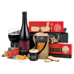 Celebration Gift Basket with Red Wine Hamper